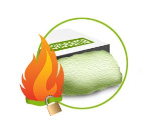 Плюсом эковаты является пожаробезопасность.